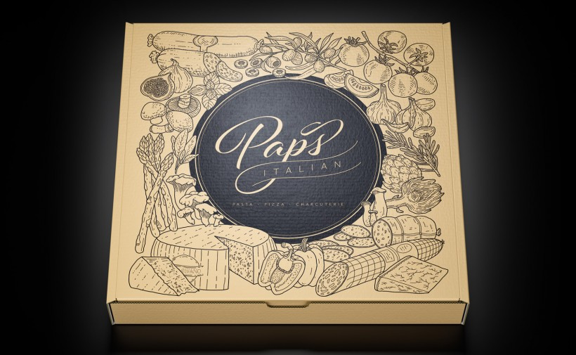 Paps Pizza Box
